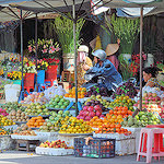 Fruit and Flower Market in Long Xuyen