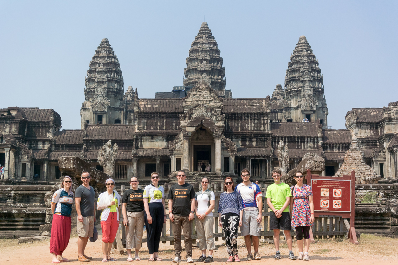 Standing in front of Angkor Wat